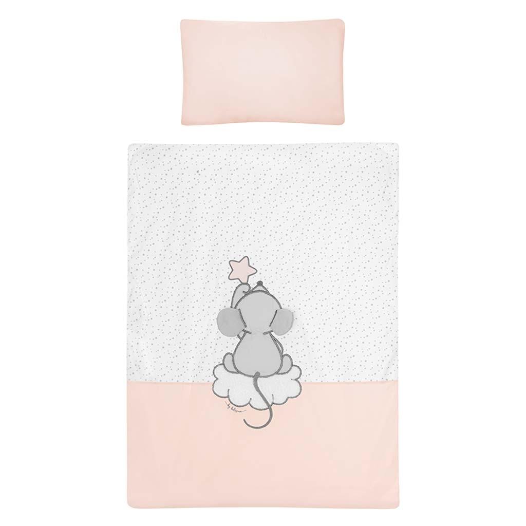 5-dielne posteľné obliečky Belisima Cute Mouse 90/120 ružové