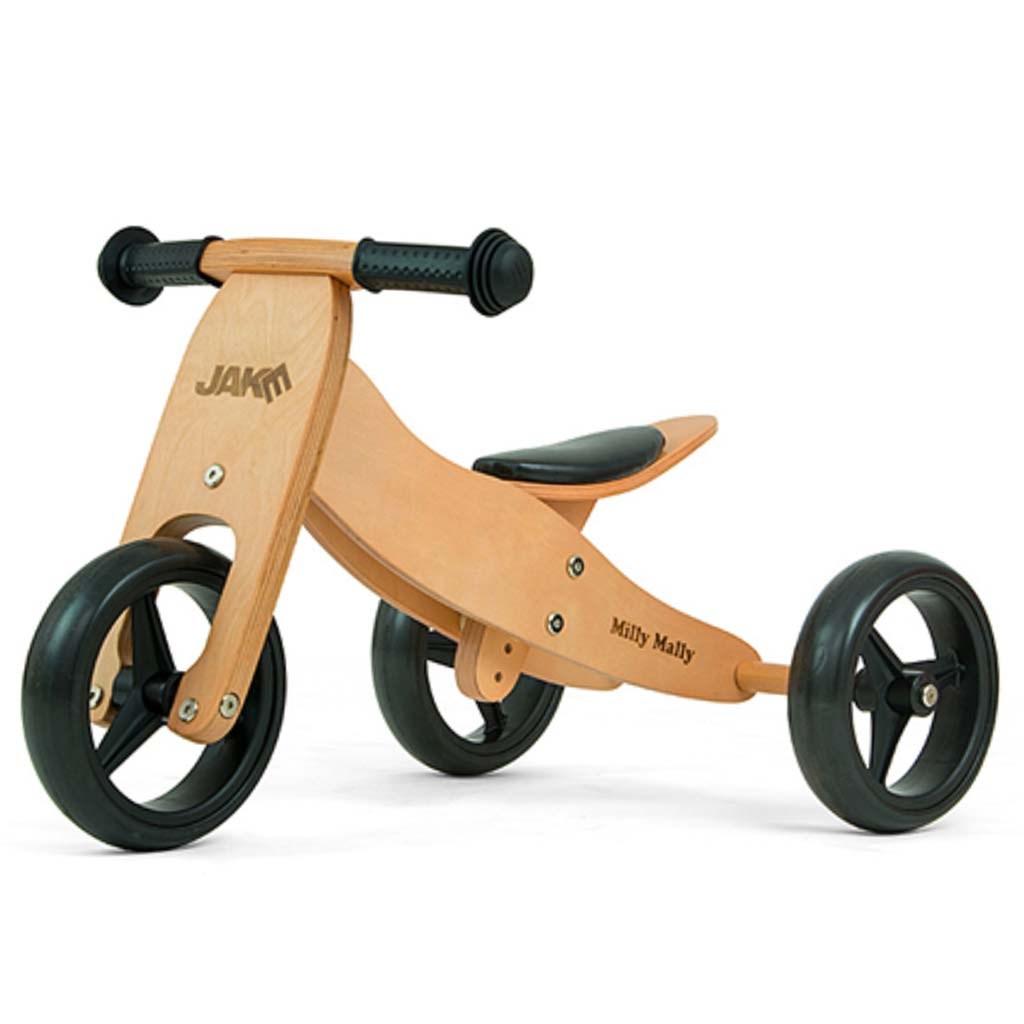 Detské multifunkčné odrážadlo bicykel 2v1 Milly Mally JAKE Natural