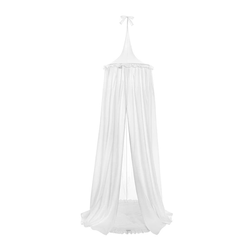 Závesný stropný luxusný baldachýn Belisima biely