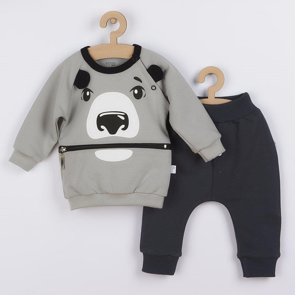 Dojčenské tepláčky a mikinka Koala Surprise sivá-68 (4-6m)