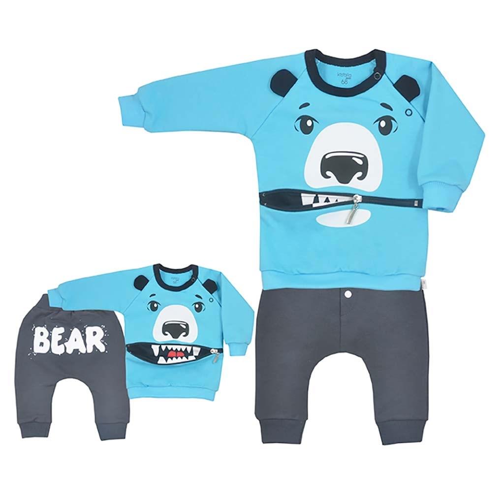 Dojčenské tepláčky a mikinka Koala Surprise tyrkysová-80 (9-12m)