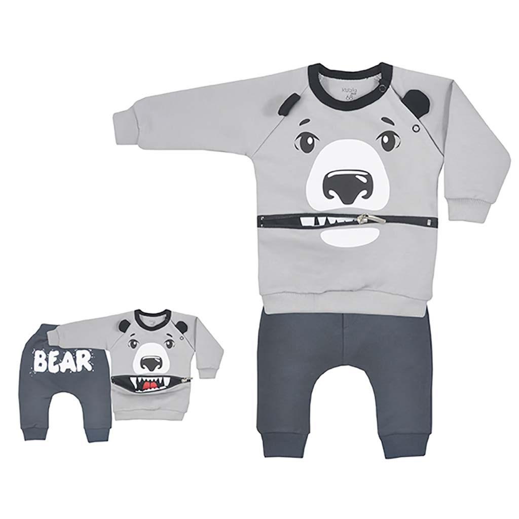 Dojčenské tepláčky a mikinka Koala Surprise sivá-86 (12-18m)