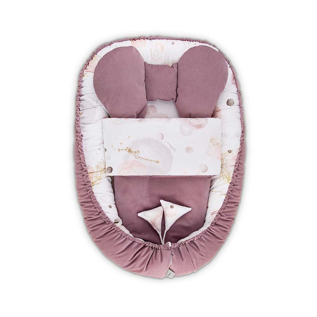 Hniezdočko s perinkou pre bábätko Velvet Belisima Bubbles