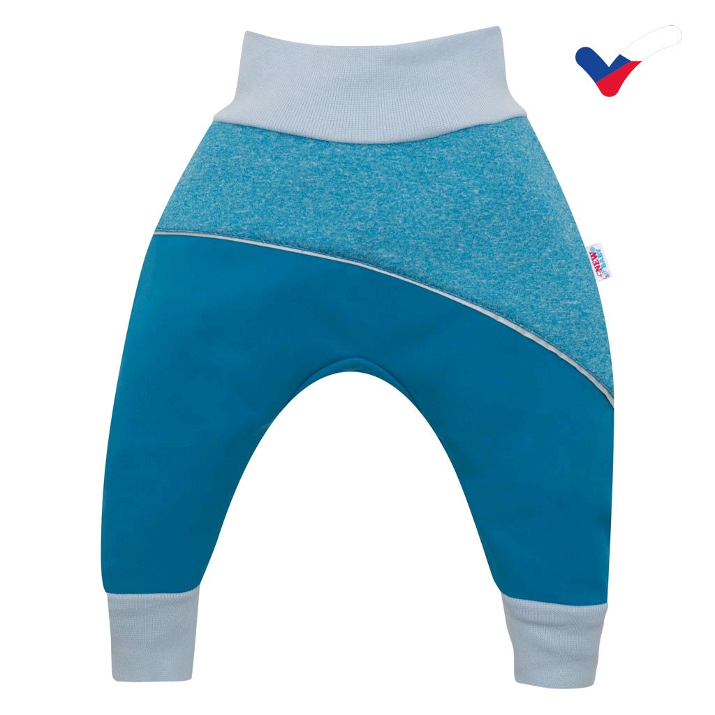 Softshellové dojčenské nohavice modré-68 (4-6m)