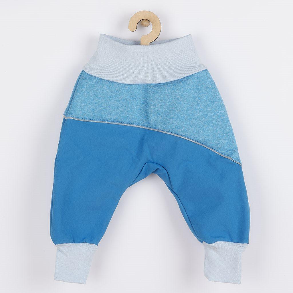 Softshellové dojčenské nohavice modré-74 (6-9m)