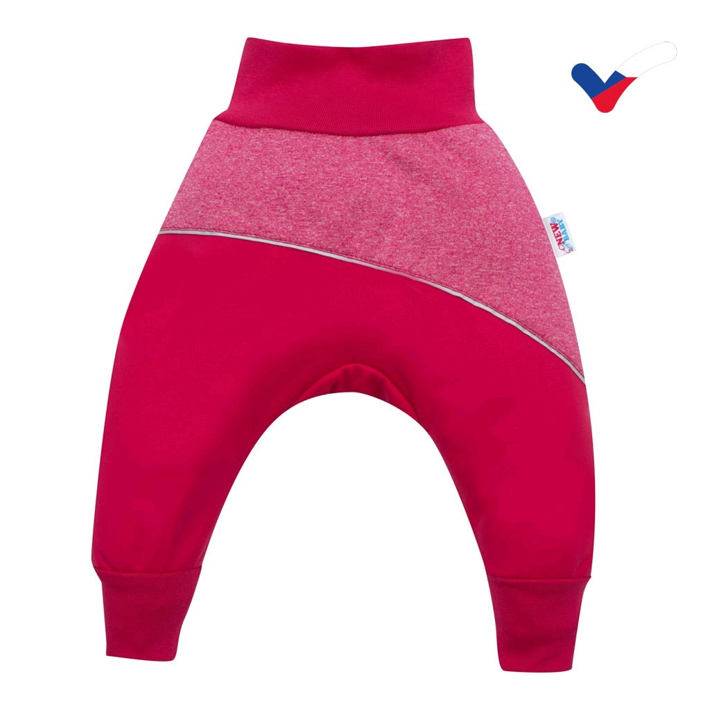 Softshellové dojčenské nohavice ružové-80 (9-12m)
