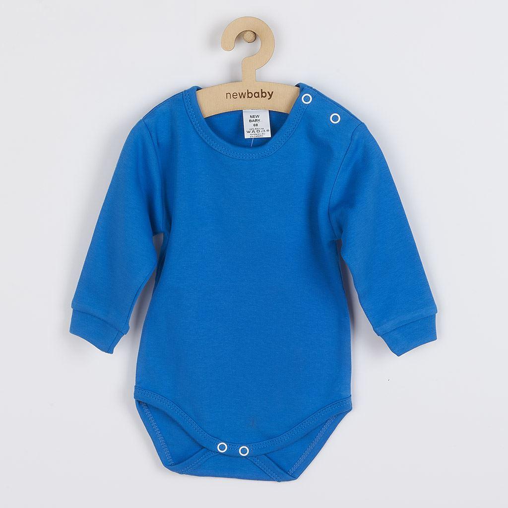 Dojčenské body s dlhým rukávom New Baby modré-56 (0-3m)