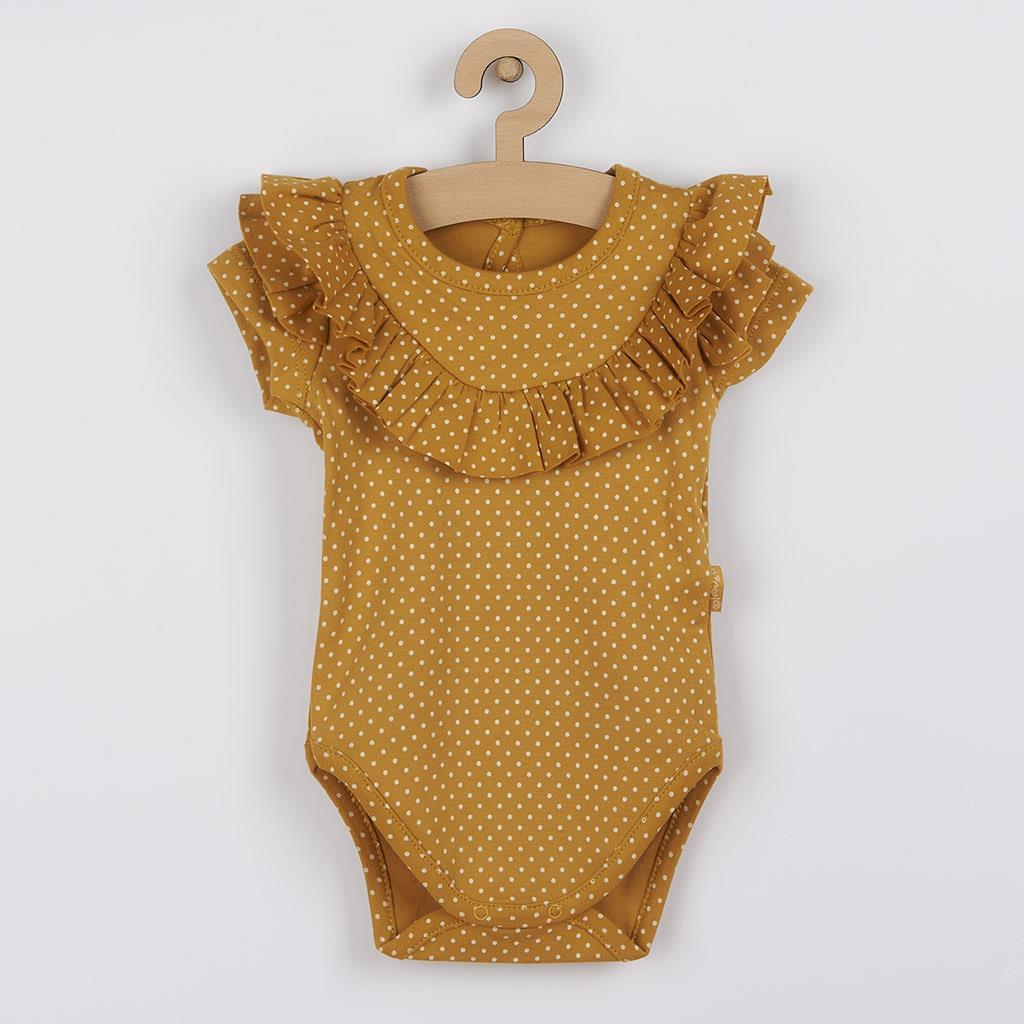 Dojčenské bavlnené body s krátkym rukávom Nicol Michelle