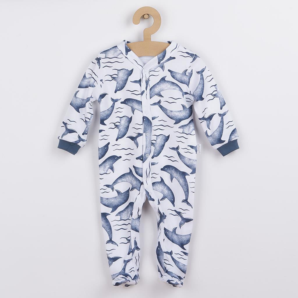 Dojčenský bavlnený overal Nicol Dolphin