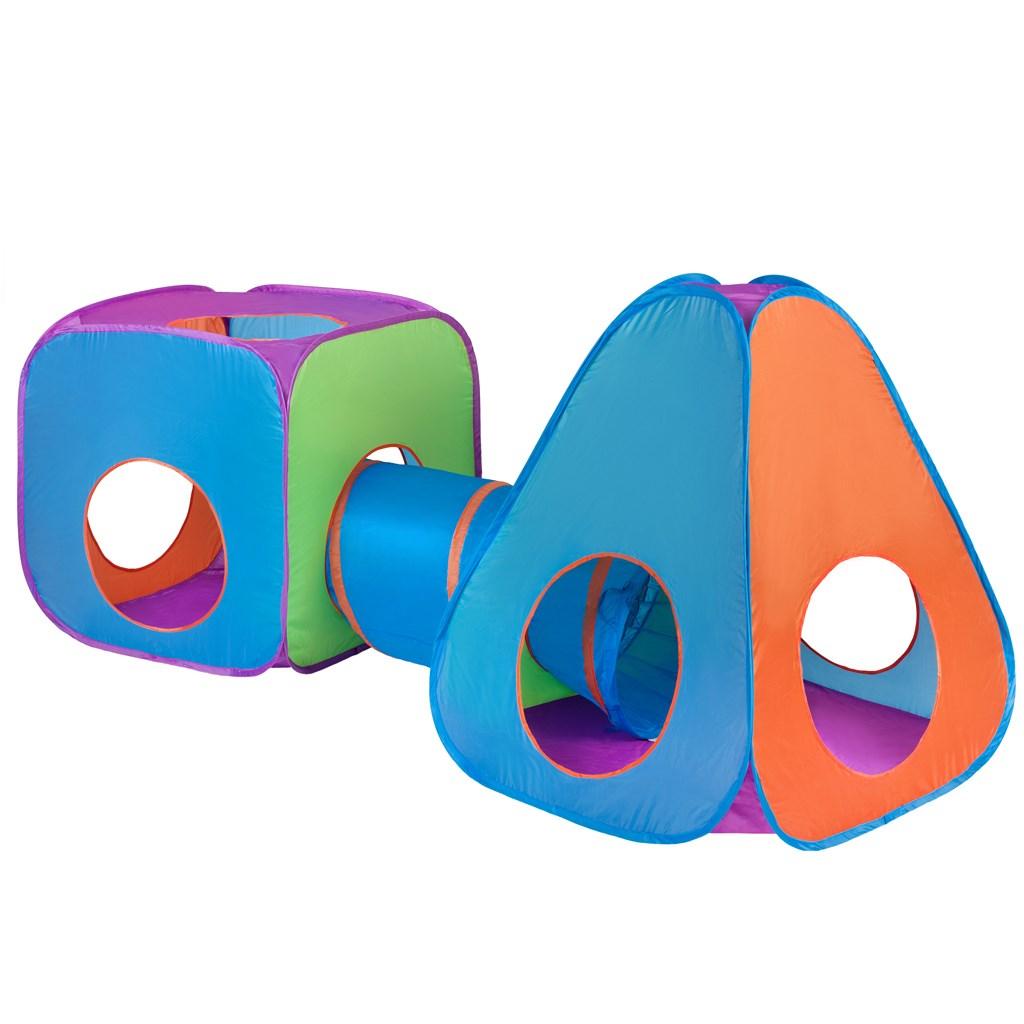 Detský stan Baby Mix 3v1 oranžovo-modrý