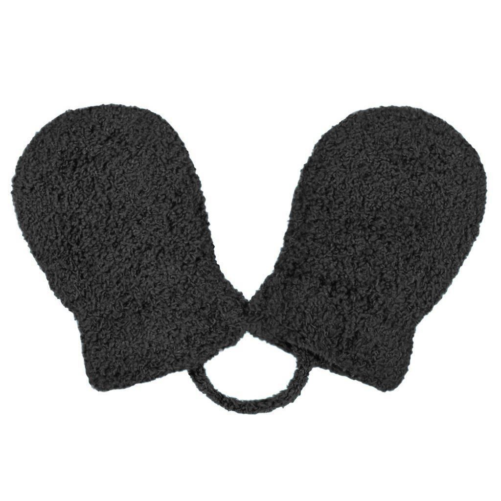 Detské zimné rukavičky New Baby so šnúrkou čierne