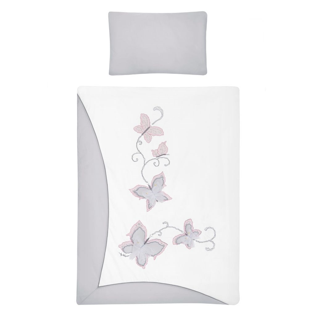 2-dielne posteľné obliečky Belisima Butterfly 100/135 sivé