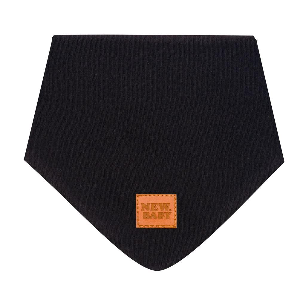 Dojčenská bavlnená šatka na krk New Baby Favorite čierna S