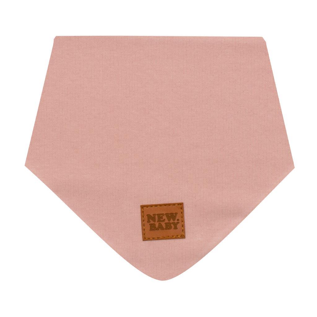 Dojčenská bavlnená šatka na krk New Baby Favorite ružová M