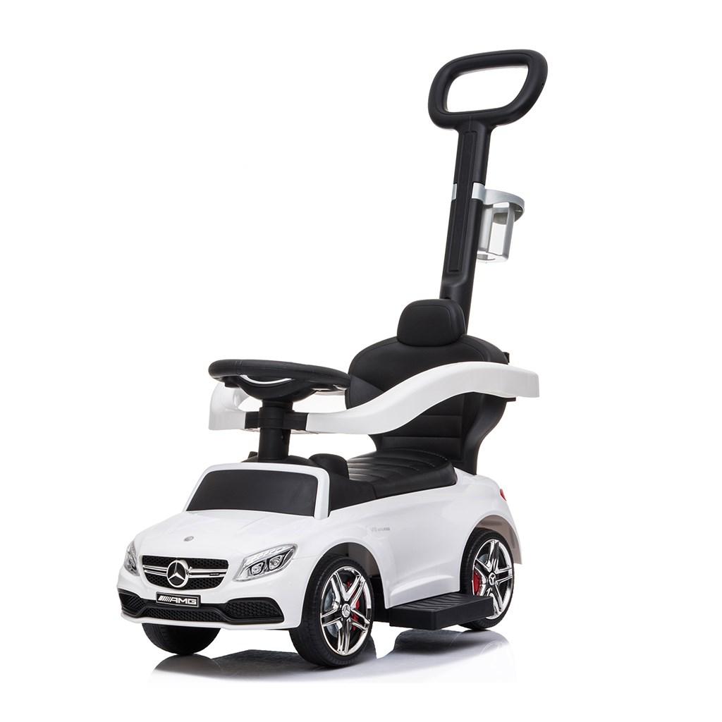 Detské odrážadlo s vodiacou tyčou Mercedes Benz AMG C63 Coupe Bayo white POŠKODENÝ OBAL