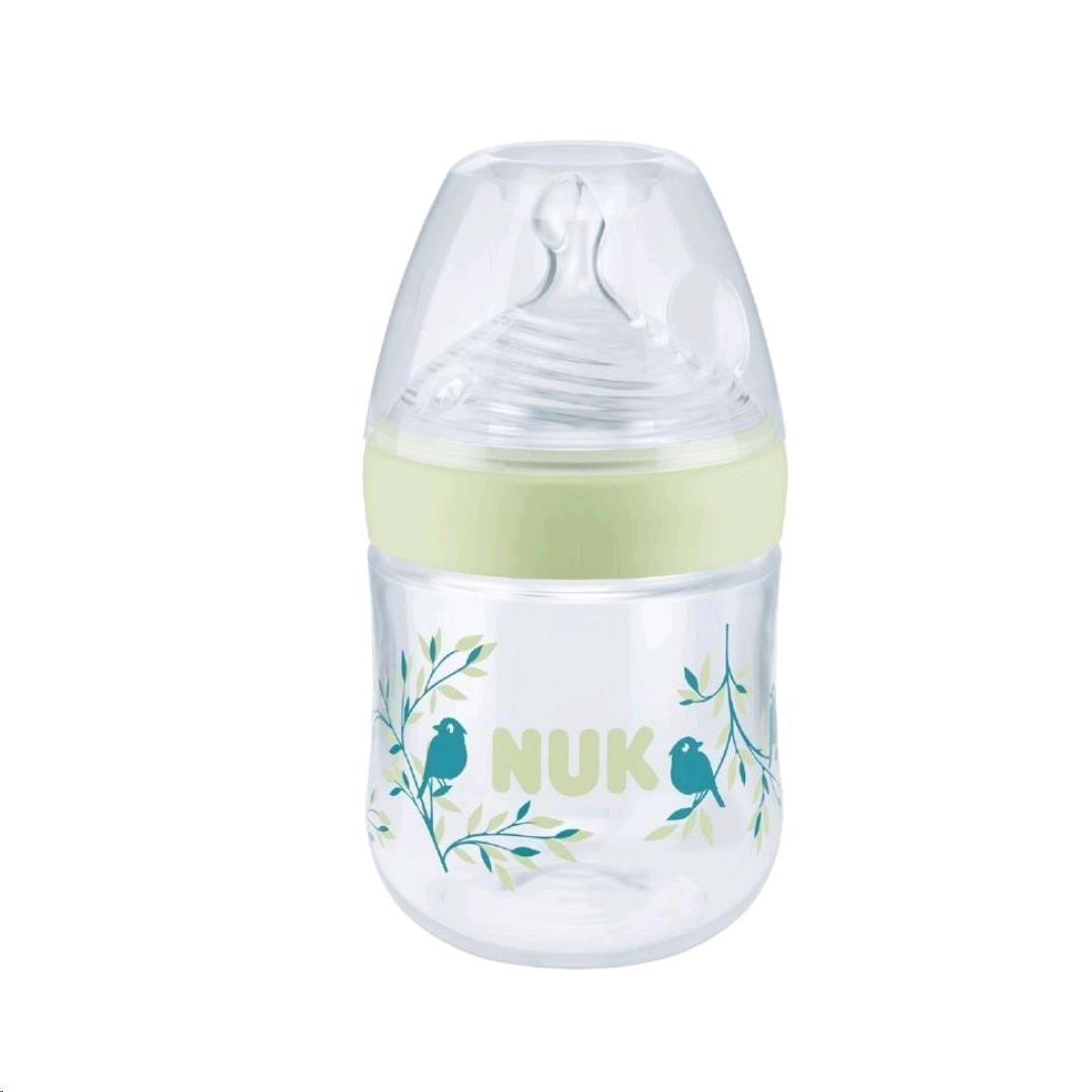 Dojčenská fľaša NUK Nature Sense s kontrolou teploty 150 ml modrá