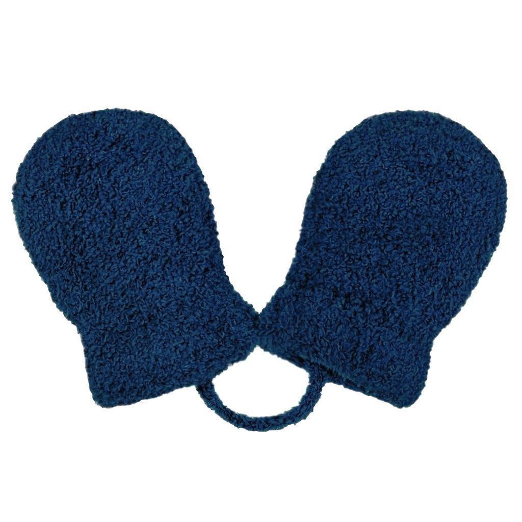 Detské zimné rukavičky New Baby so šnúrkou tmavo ružové tmavo modré