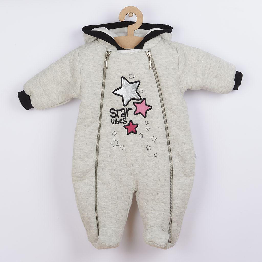 Zimná dojčenská kombinéza s kapucňou Koala Star Vibes ružová