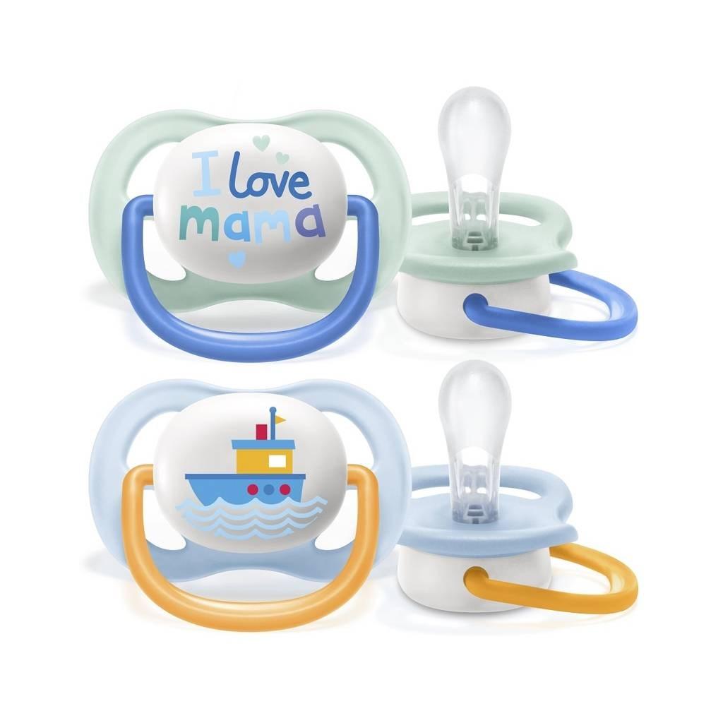 Dojčenský cumlík Ultra air Text Avent 0-6 mesiacov - 2 ks dievča