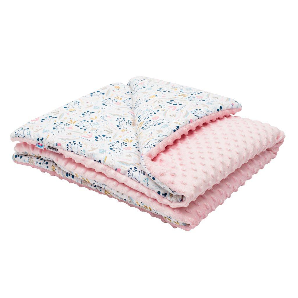 Detská deka z Minky s výplňou New Baby Jarabina 80x102 cm