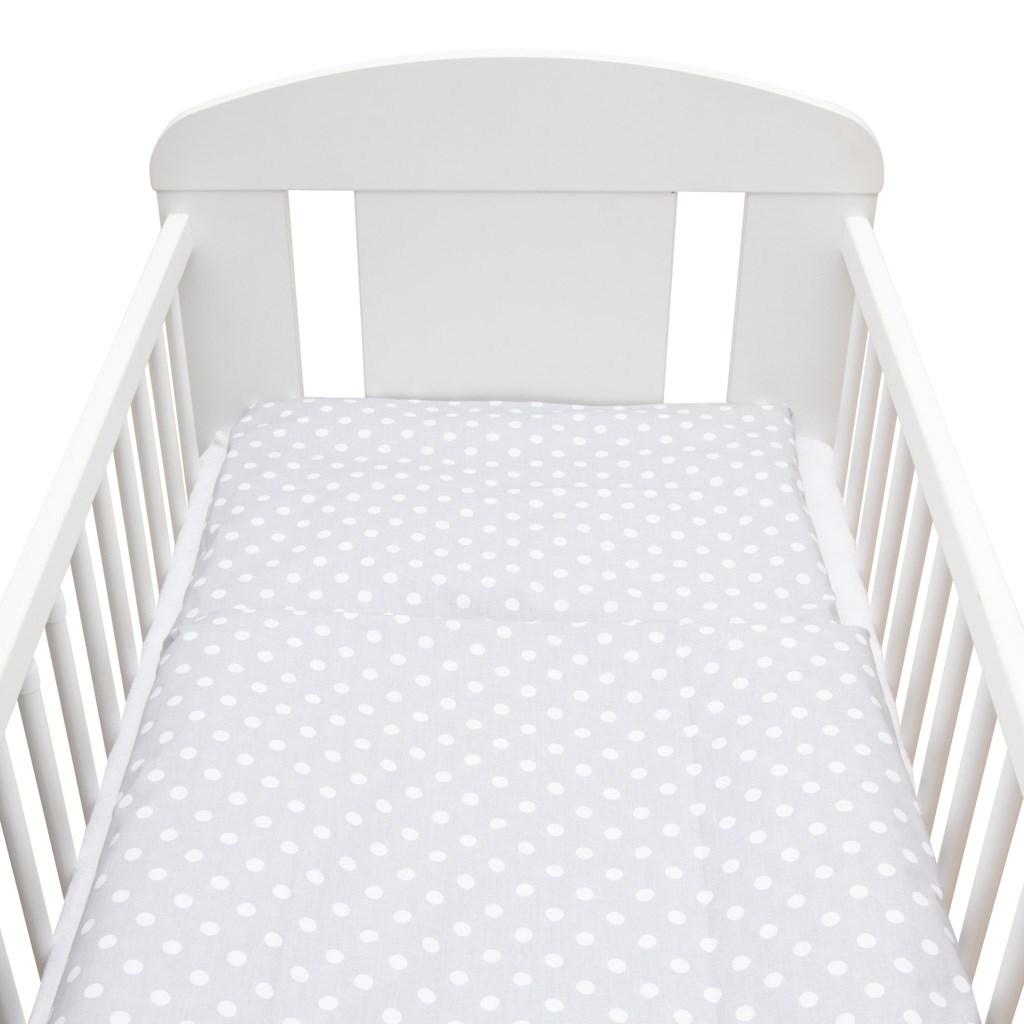 2-dielne posteľné obliečky New Baby 90/120 cm Bodka sivo-biele