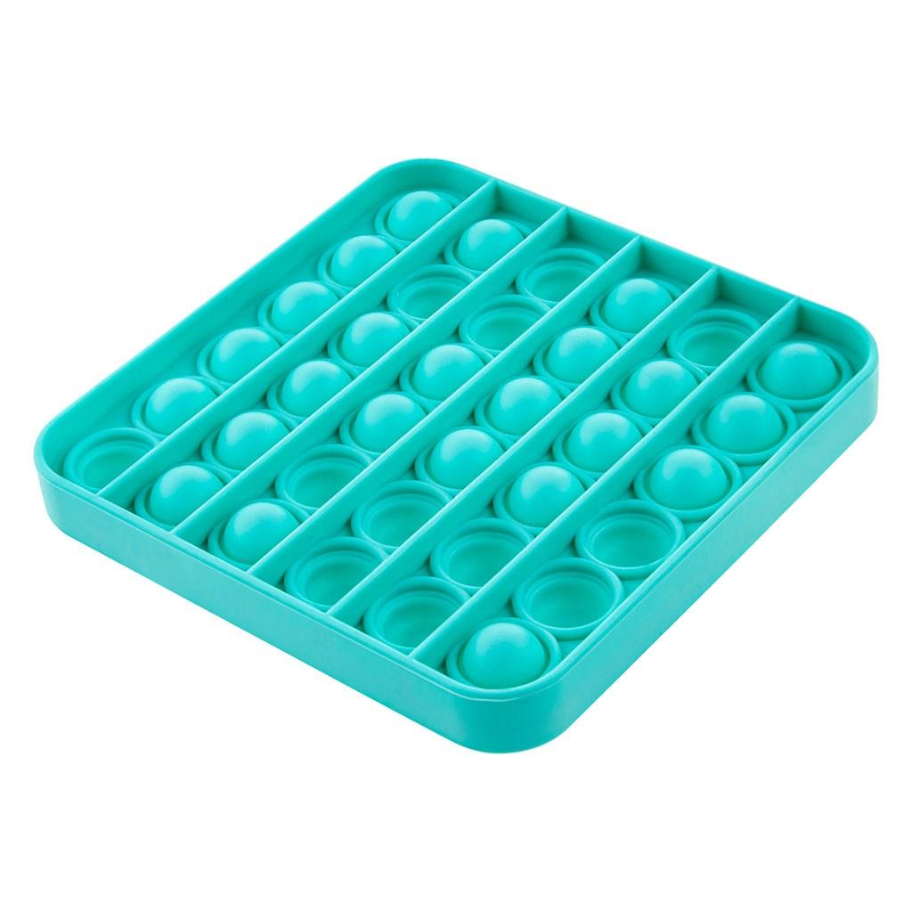 Senzorická hračka Praskacie bubliny Push Pop Akuku štvorec zelený