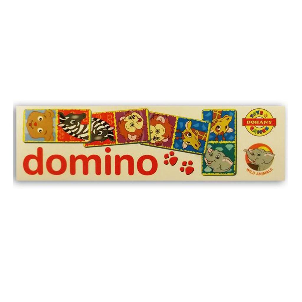 Detské domino Zvieratká zo zoo