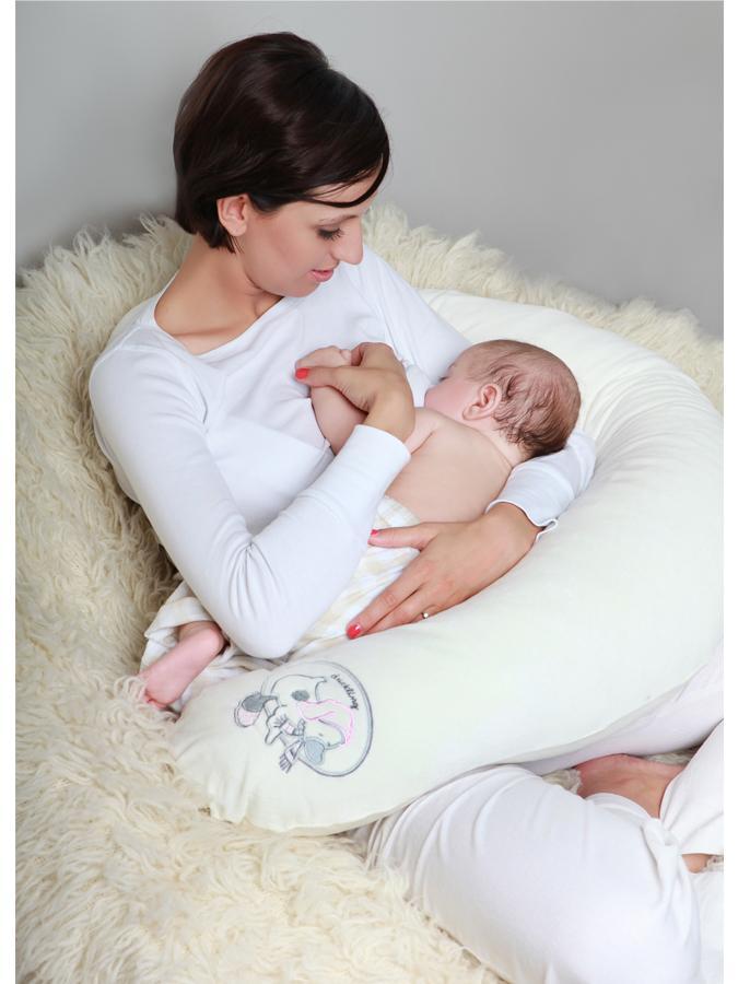 Univerzálny semiškový dojčiaci vankúš Womar sovička sivý