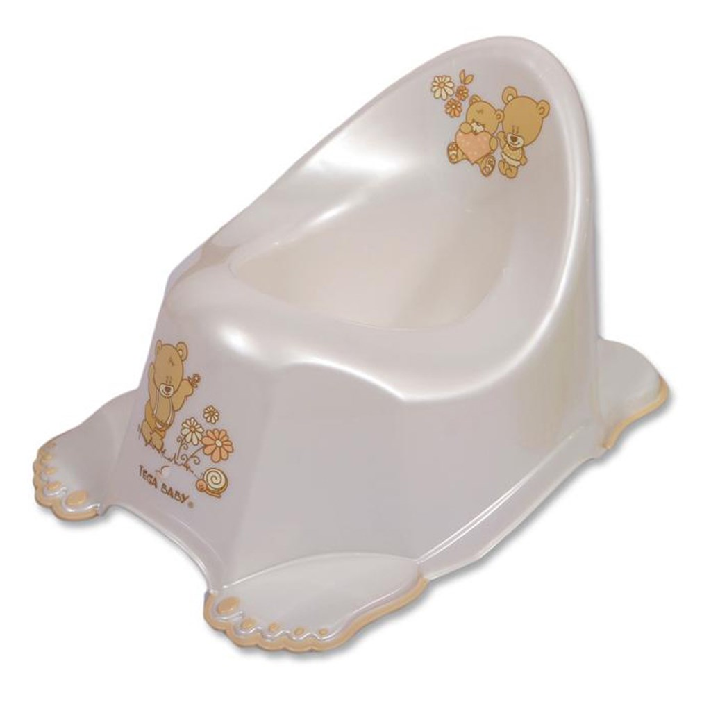 Hrajúci detský nočník protišmykový bielý