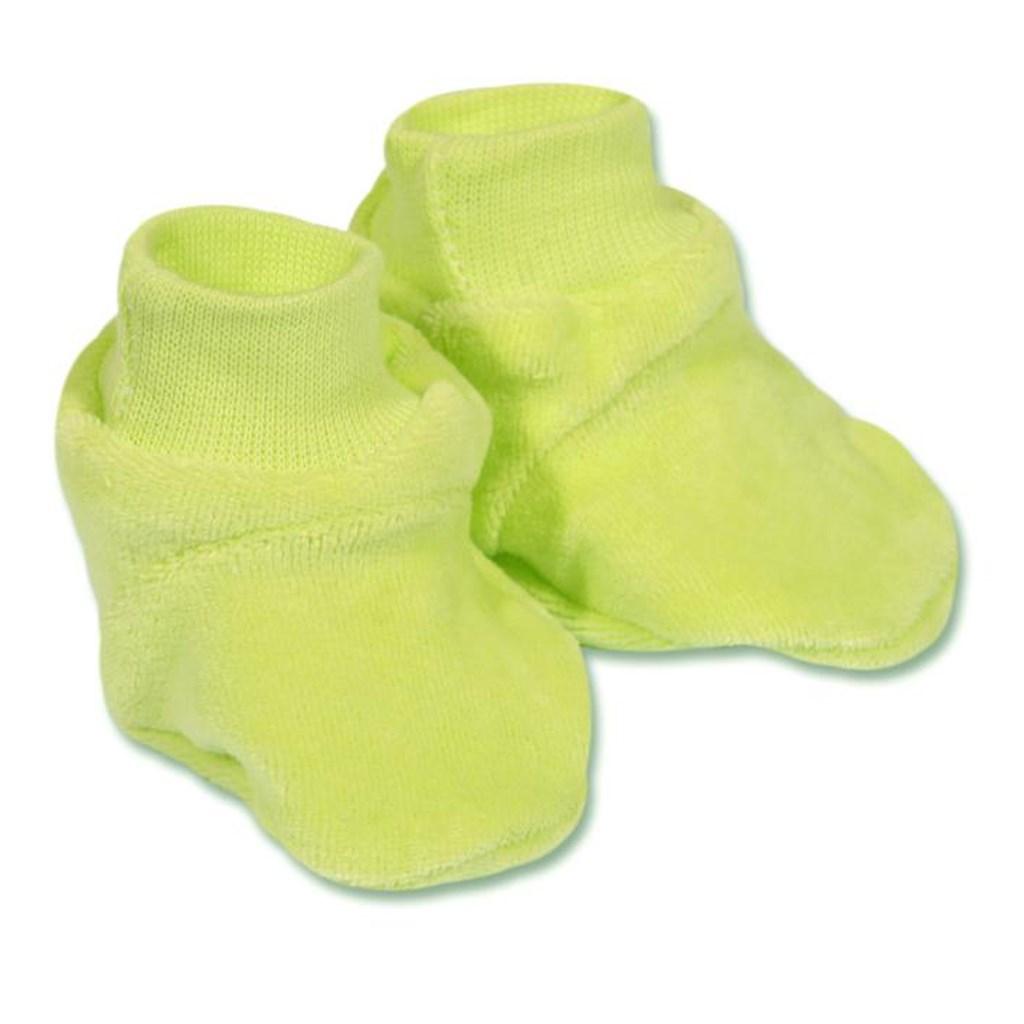 Detské papučky New Baby zelené Veľkosť: 62 (3-6m)