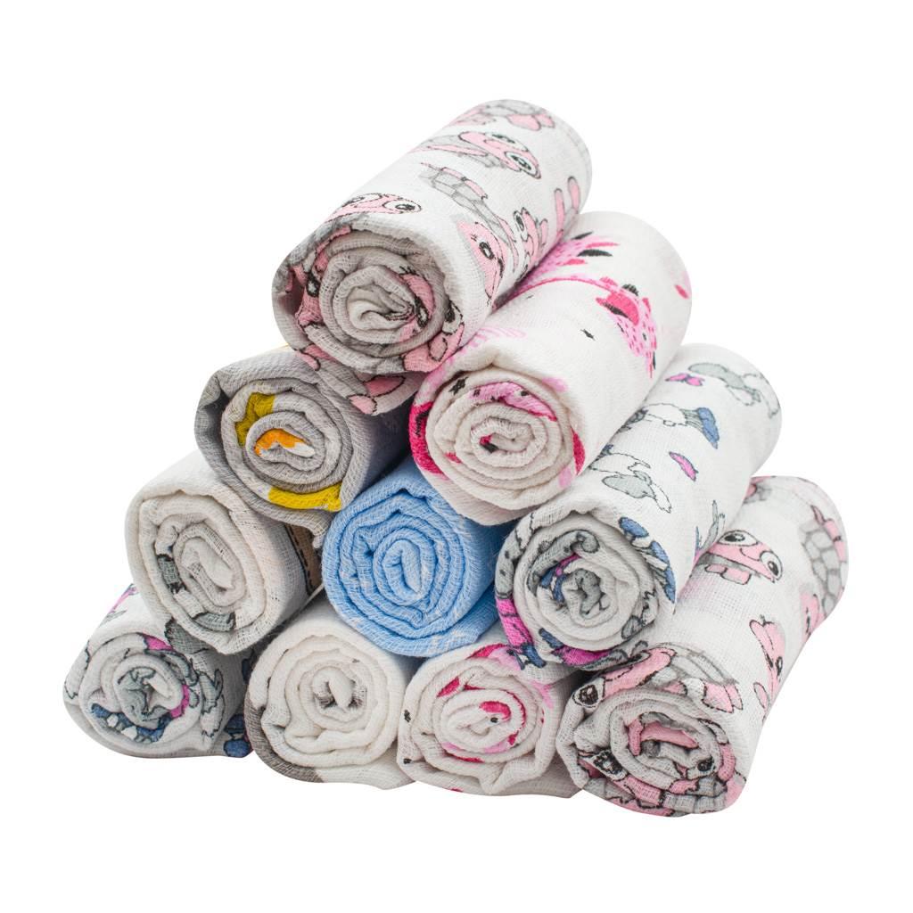 Bavlnená plienka s potlačou - 10 ks