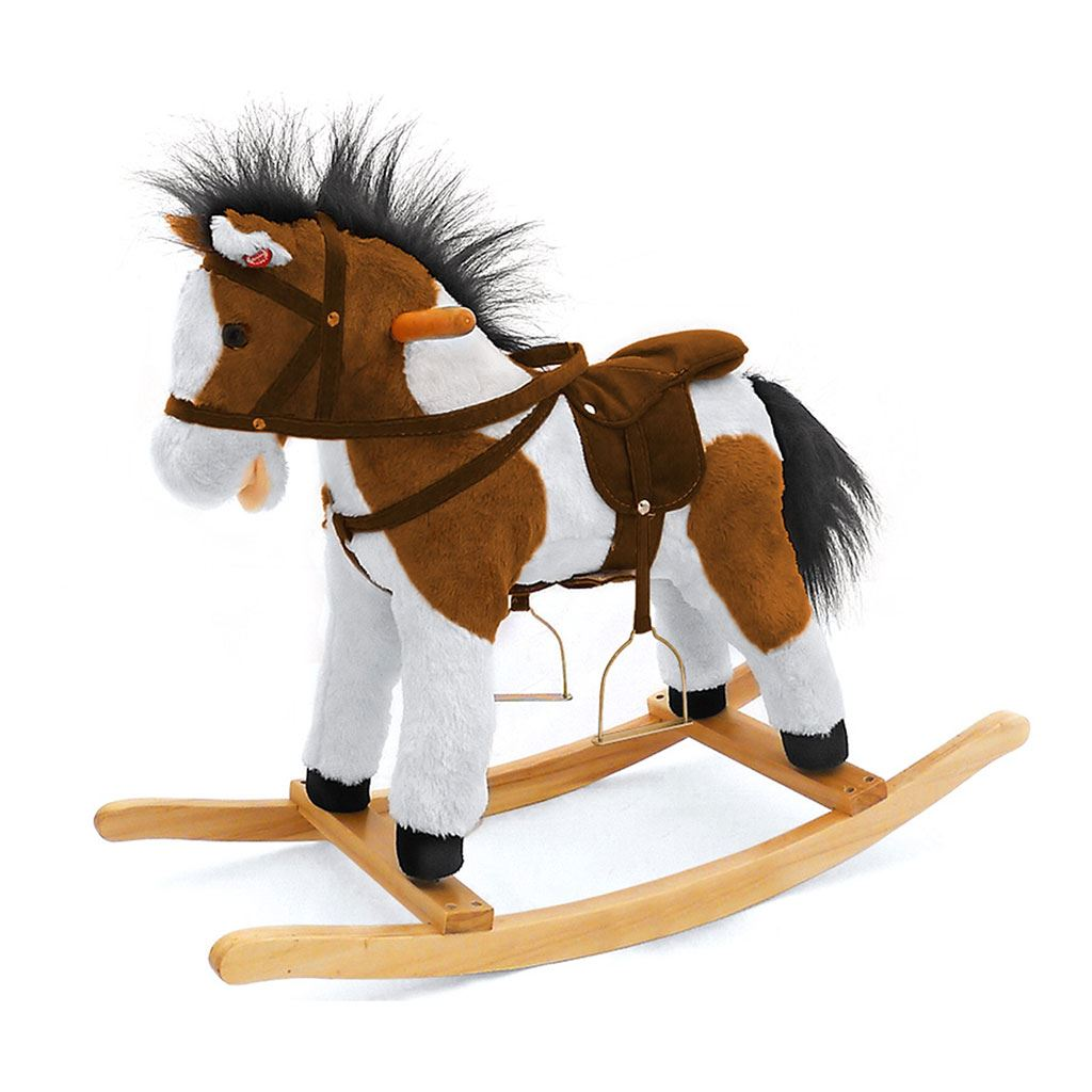 Hojdací koník Milly Mally Jurášek tmavo hnedý