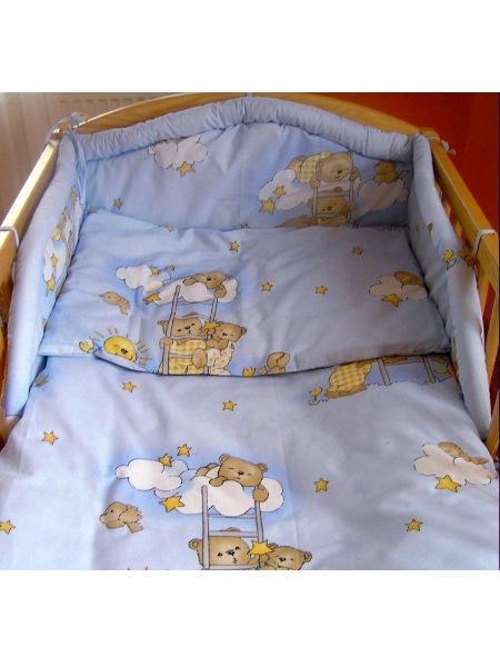 2-dielne posteľné obliečky New Baby 100/135 cm modré s medvedíkom
