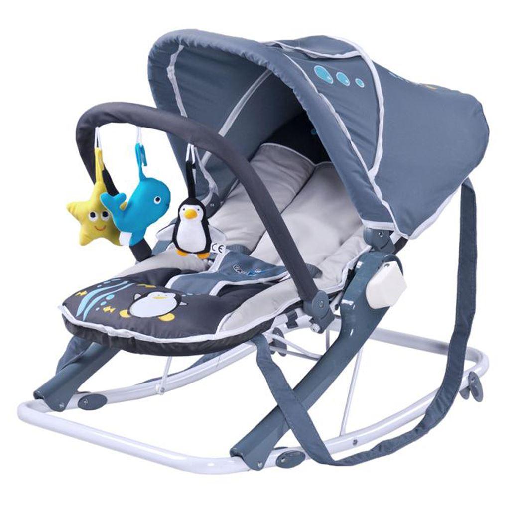 Detské ležadlo CARETERO Aqua grey