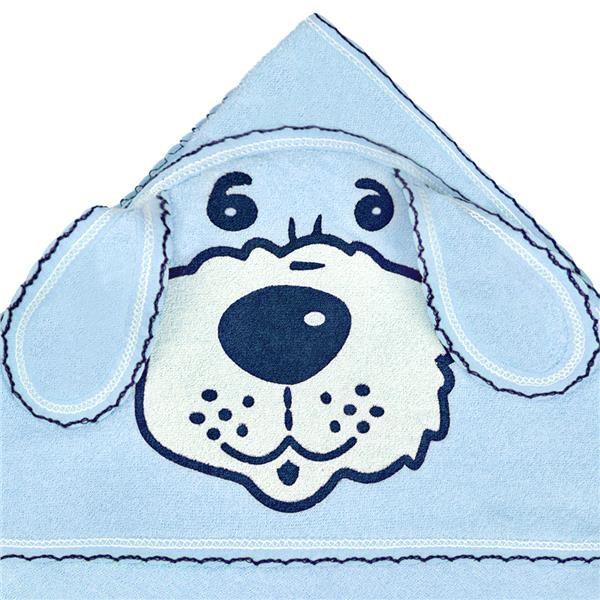 Detská froté osuška 80x80 psík modrá