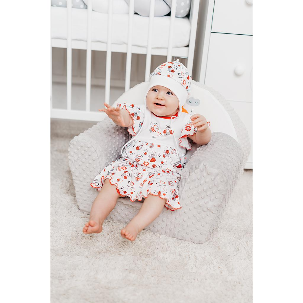 Dojčenské šaty New Baby Lienka 80 (9-12m)