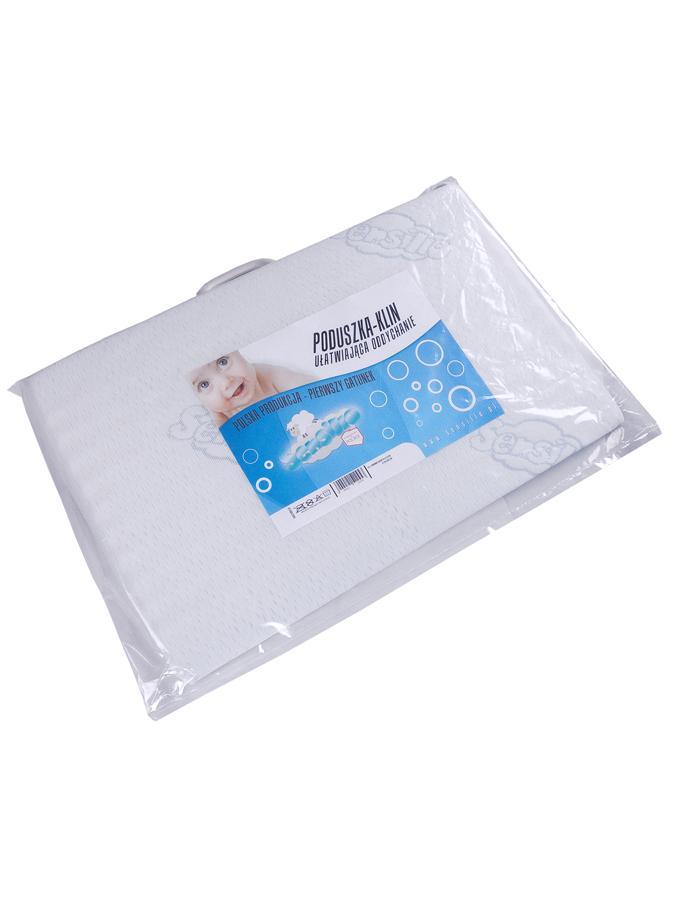 Dojčenský vankúš - klin Sensillo biely 59x37 cm