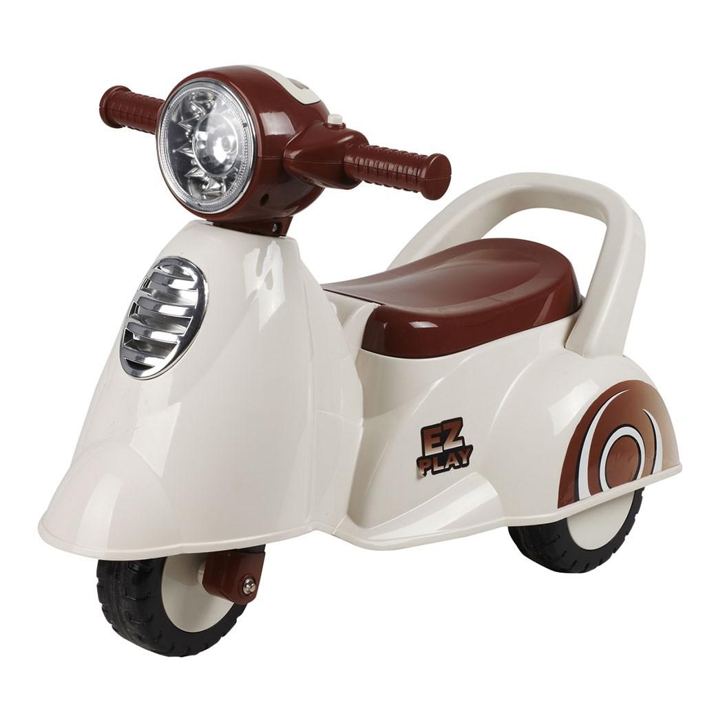 Detské jazdítko so zvukom Baby Mix Scooter white