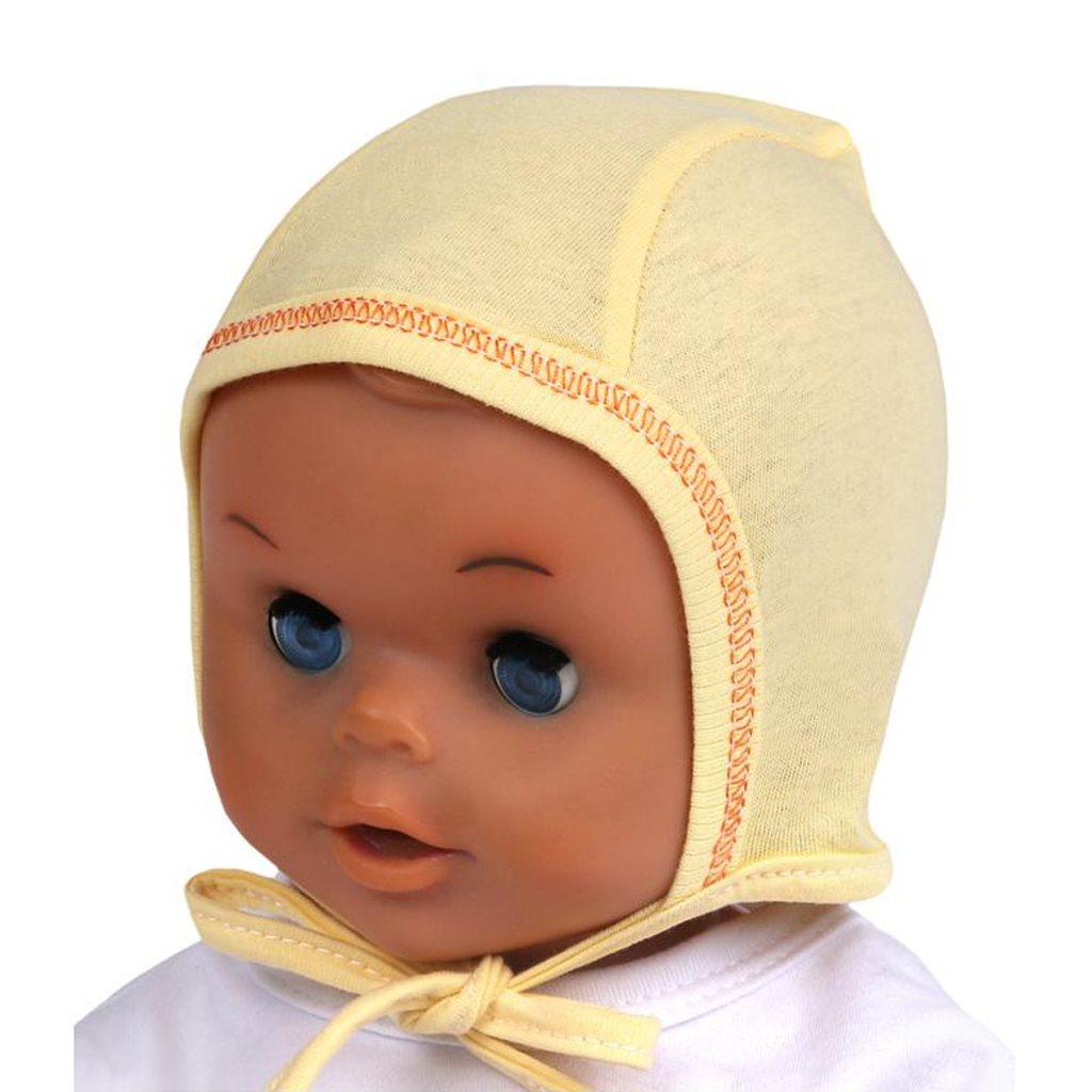 Dojčenská čiapočka New Baby žltá