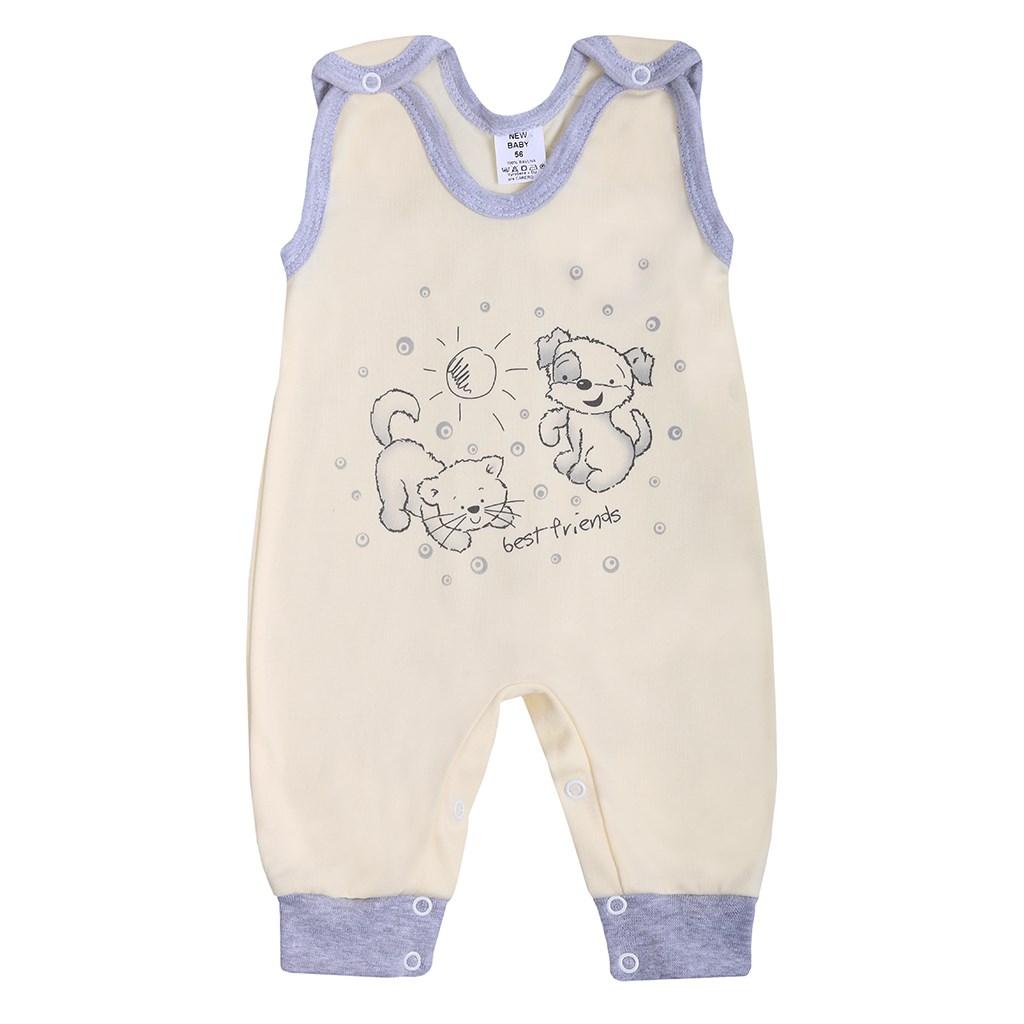 Dojčenské dupačky New Baby Kamaráti smotanové 86 (12-18m)