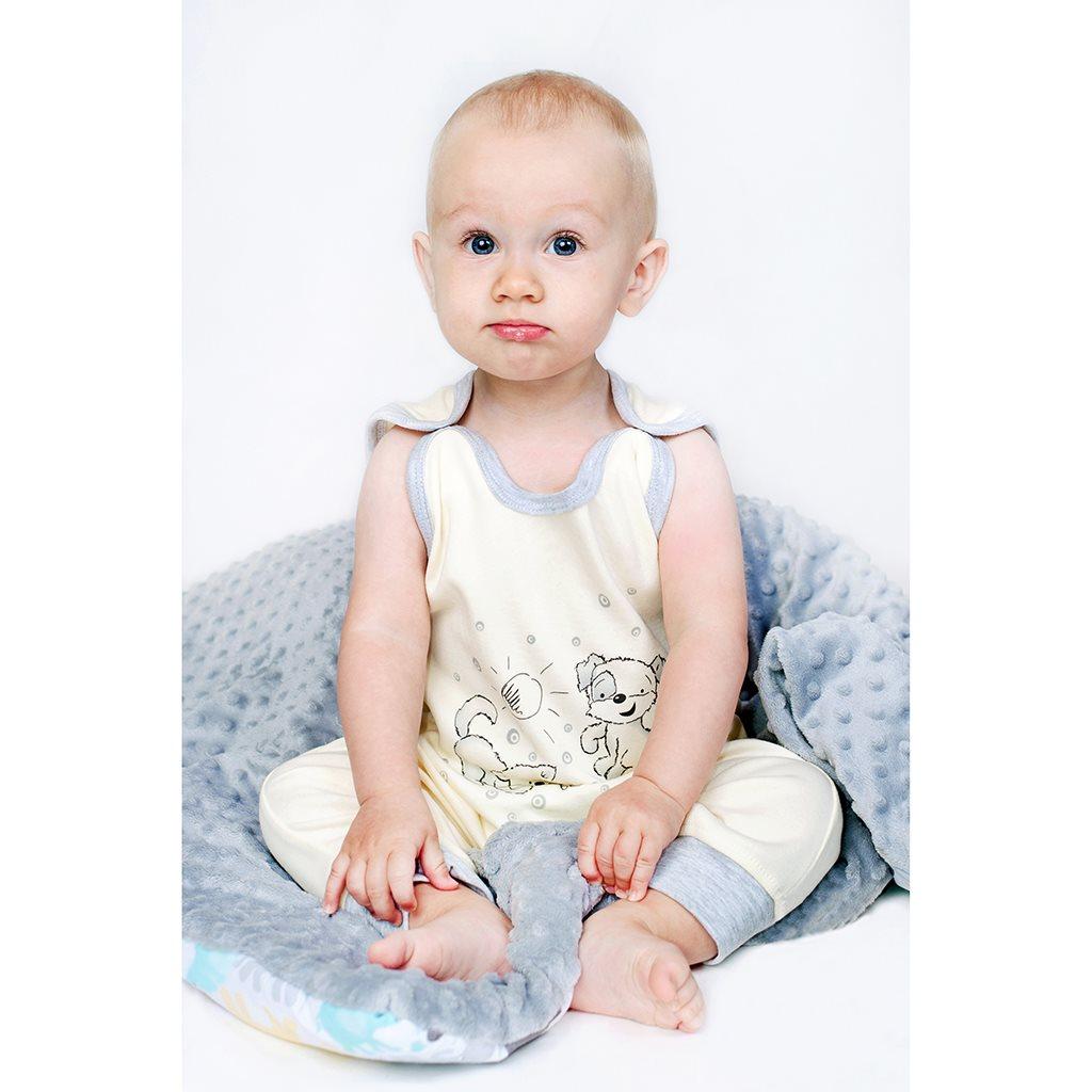 Dojčenské dupačky New Baby Kamaráti smotanové