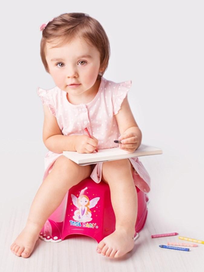 Hrajúci detský nočník protišmykový Malá Princezná ružový