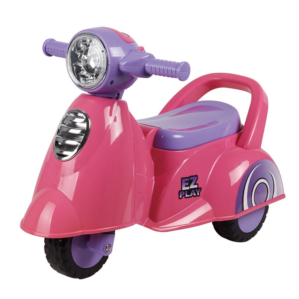 Detské jazdítko so zvukom Baby Mix Scooter pink