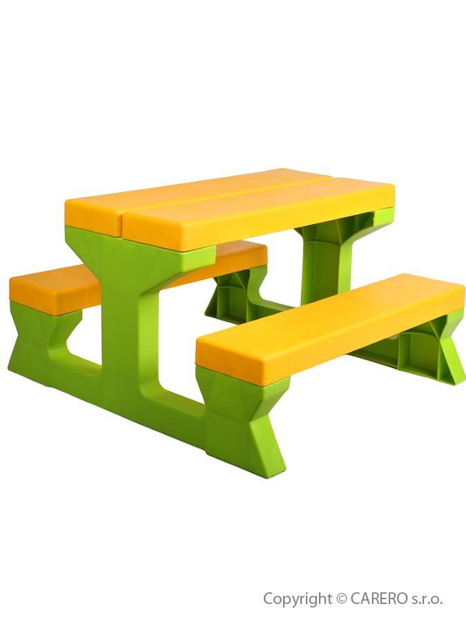 Detský záhradný nábytok - Stôl a lavičky