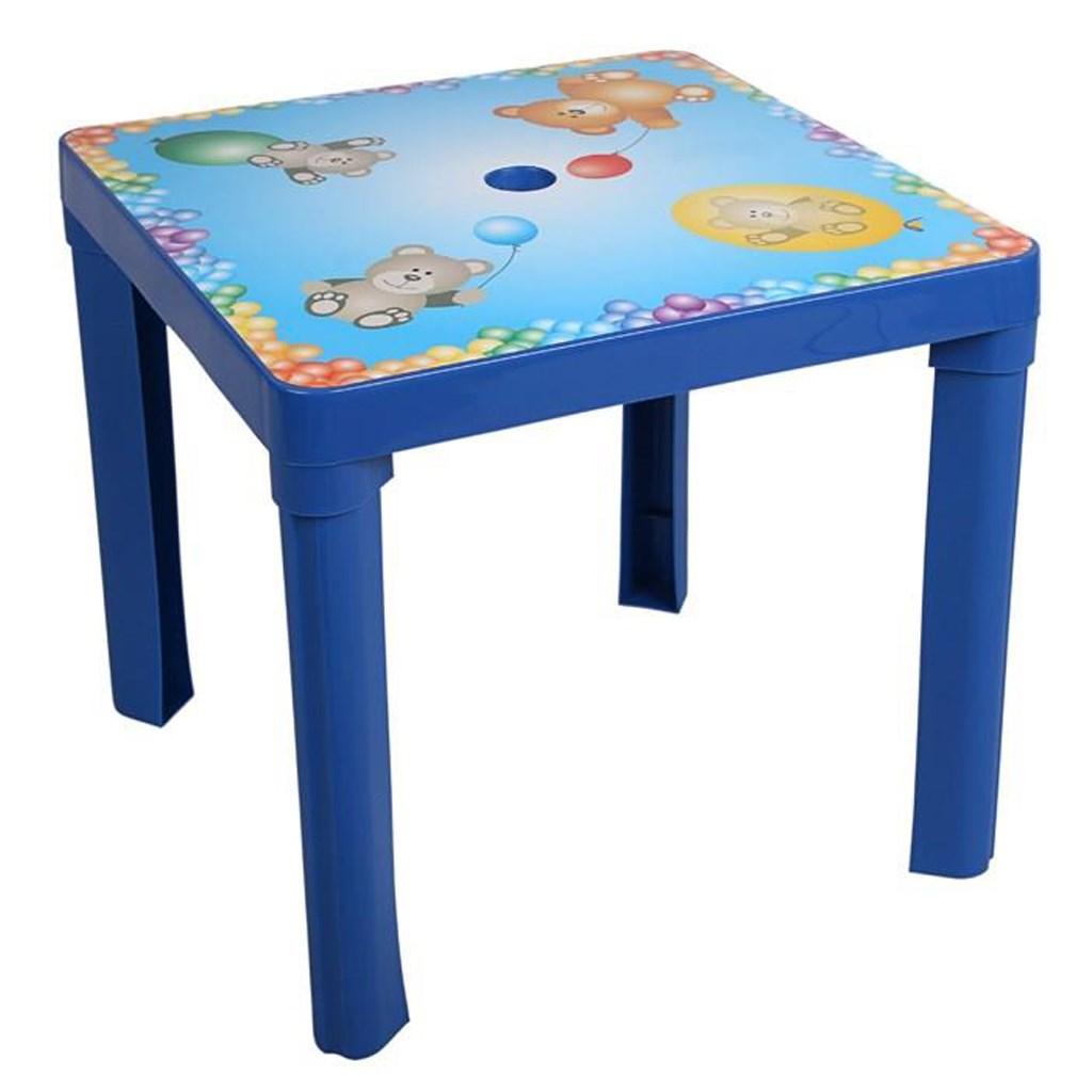 Detský záhradný nábytok - Plastový stôl modrý
