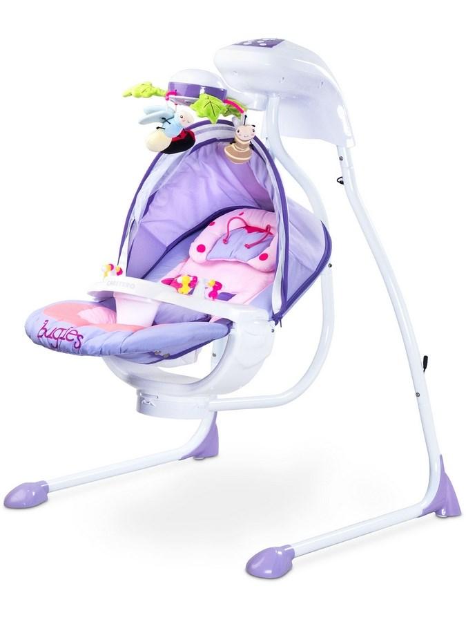 Detská hojdačka CARETERO Bugies purple
