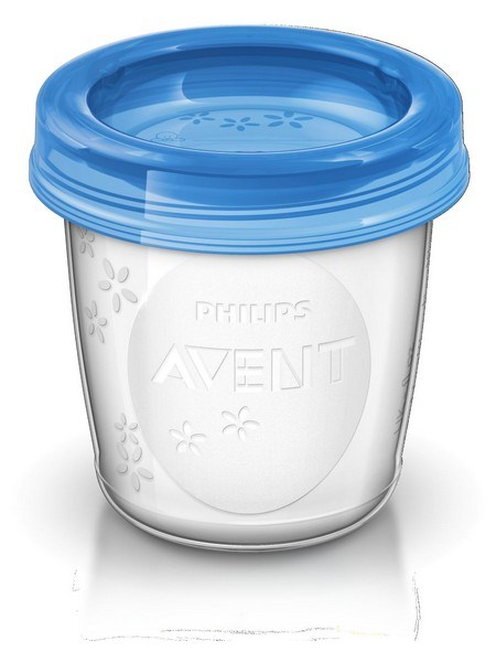 Sada Via pohárikov s viečkom Avent 180 ml - 5 ks