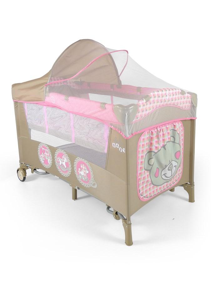 Cestovná postieľka Milly Mally Mirage Deluxe pink toys
