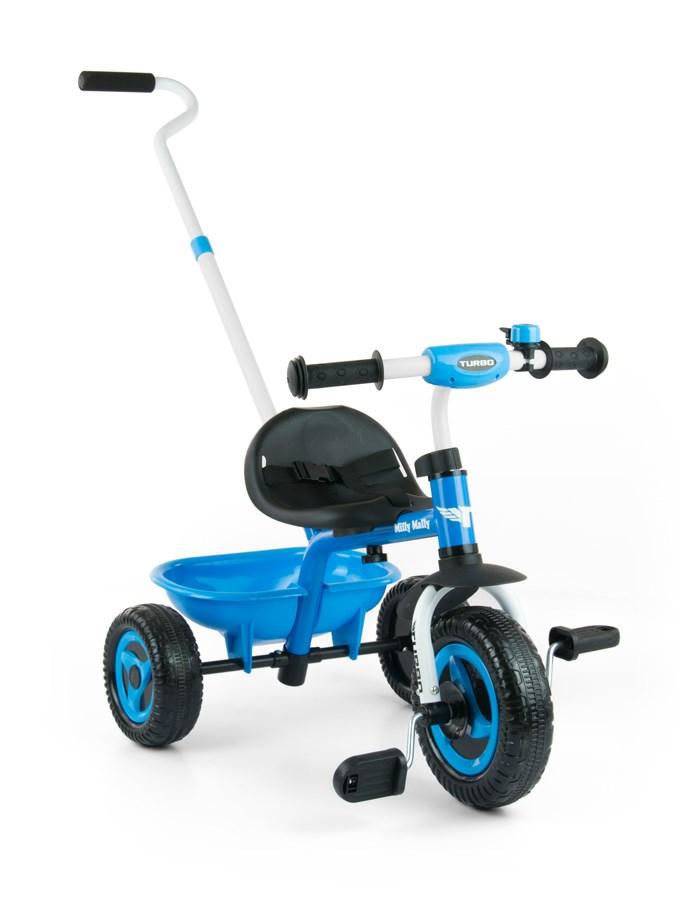 Detská trojkolka Milly Mally Boby TURBO blue