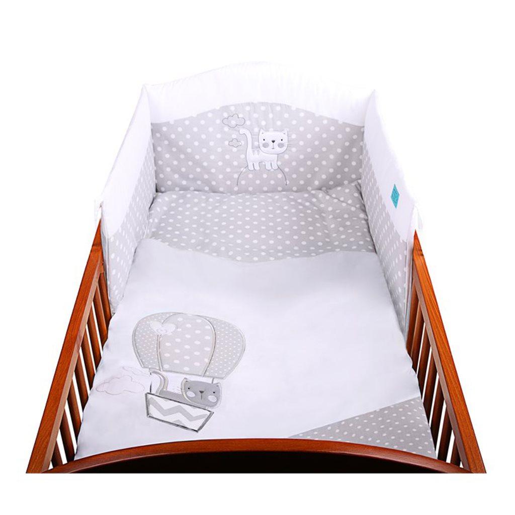 3-dielne posteľné obliečky Belisima Balón 100x135 biele